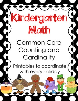 Kindergarten Math Common Core Counting and Cardinality HOLIDAYS Edition