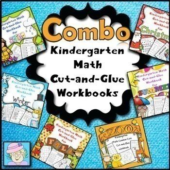 Math Worksheets Kindergarten BUNDLE | Kindergarten Math Worksheets Spring & More