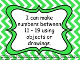 "Kindergarten Math Common Core ""I Can"" Posters - Chevron"
