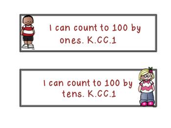 "Kindergarten Math ""I can"" Posters"