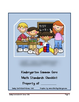 Kindergarten Math Common Core Standards Checklist