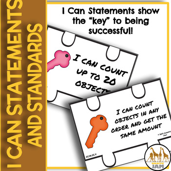 Kindergarten Math Common Core Standards and I Can Statements