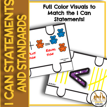 Kindergarten Math Standards and I Can Statements for Math Focus Wall