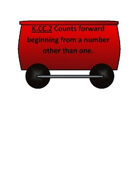 Kindergarten Math Common Core I Can Statement Train B2S