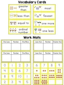 Kindergarten Math ~ Comparing Numbers 0-10