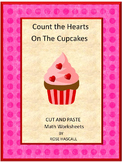 Valentine's Day Count Hearts On The Cupcakes Math Center Activity