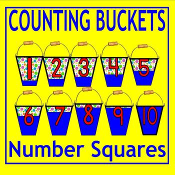 Kindergarten COUNTING Filling Buckets Number Square Visual Math