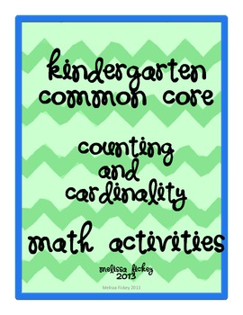 Kindergarten Math Counting & Cardinality {CCS on each page!}