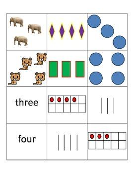 Kindergarten Counting Math Center Activity - Common Core K