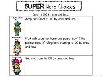 Kindergarten Math Counting Multiple Intelligence Choice Board Menu Common Core