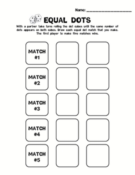 Kindergarten Math Counting Numbers 0-5 - Equal Groups