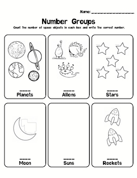 Kindergarten Math Counting Numbers 0-5 - Number Groups 01
