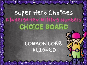 Kindergarten Math Counting Writing Numbers Multiple Intelligence Choice Board