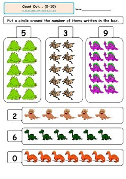 Kindergarten Math-Counting and Cardinality B.4-B.5 Count Objects