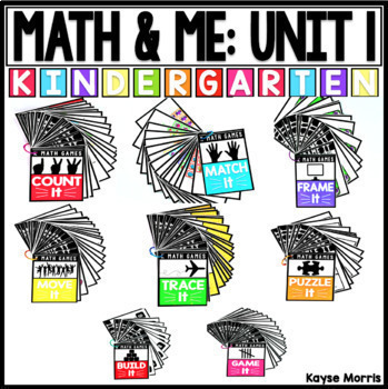 Kindergarten Math  : Math and Me : Year Long Growing Bundle