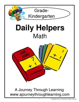 Kindergarten Math Daily Helper Lapbook