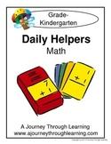 Kindergarten Math Daily Helper Lapbook