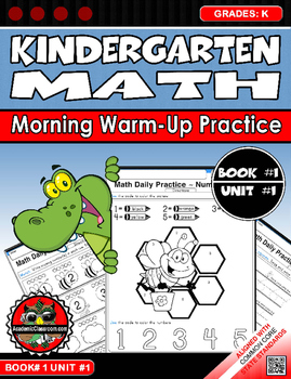 Kindergarten Math Daily Morning Warm-Up Numbers 0-10 Book1 Unit 1