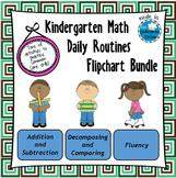 Kindergarten Math Daily Routines Flipchart Bundle