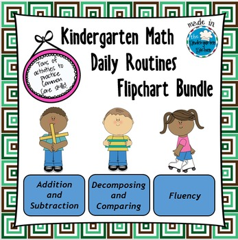 Kindergarten Math Daily Routines Flipchart Bundle