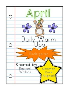 Kindergarten Math Daily Warm Ups for April