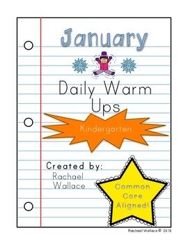 Kindergarten Math Daily Warm Ups for January