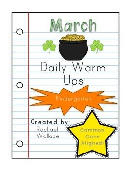 Kindergarten Math Daily Warm Ups for March