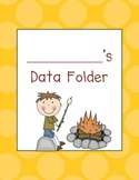 Kindergarten Math Data Folders- Camping Theme