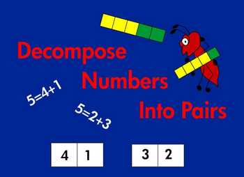 Kindergarten Math Decomposing Numbers Equal To or Less Than 10 Common Core