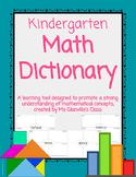 Kindergarten Math Dictionary