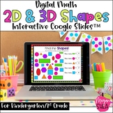 Kindergarten Math Digital 2D Shapes & 3D Shapes for Distance Learning on Google