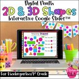 Kindergarten Math Digital 2D Shapes & 3D Shapes for Distan