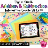 Kindergarten Math Digital Addition Subtraction for Distanc