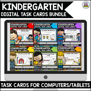 Go Math Kindergarten Digital Task Cards Bundle