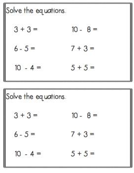 Kindergarten Math Do Nows