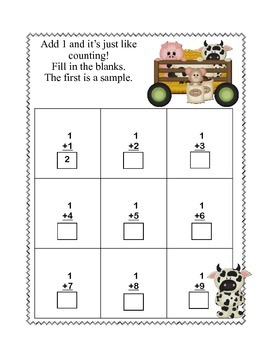 Kindergarten Math -Down on the Farm -Supports 3 CCSS's