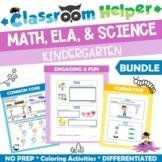 Kindergarten Math, ELA, and Science Bundle