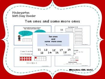 Kindergarten Math Easy Reader- Ten ones and some more ones