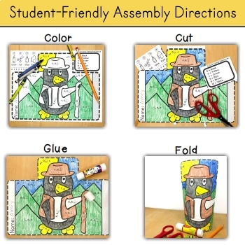 Kindergarten Math End of Year Review - Color by Code