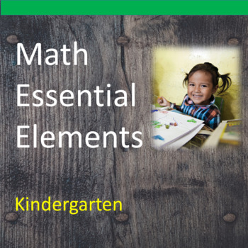 Kindergarten Math Essential Elements for Cognitive Disabil