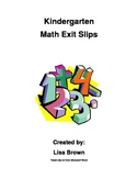 Kindergarten Math Exit Slips