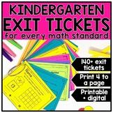 Kindergarten Math Exit Tickets & Slips Assessment Bundle