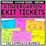 Kindergarten Math Exit Tickets & Slips Assessment Bundle