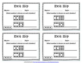 Kindergarten Math Exit Slips, Kindergarten Math Exit Tickets Mega Bundle