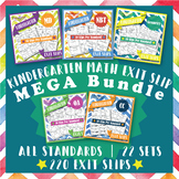 Kindergarten Math Exit Slips, Kindergarten Math Exit Tickets Mega Bundle