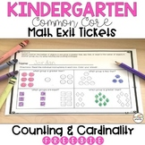 Kindergarten Math Exit Ticket - Counting and Cardinality -