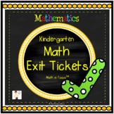 Kindergarten Math Exit Tickets All Year (Math in Focus™)