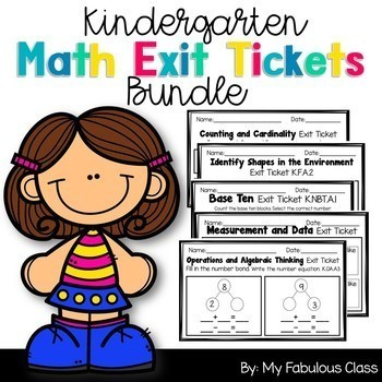 Kindergarten Math Exit Tickets Bundle