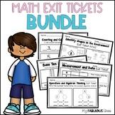 Kindergarten Math Exit Tickets Bundle
