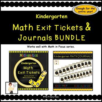 Kindergarten Math Exit Tickets & Journals All Year (Math in Focus™)